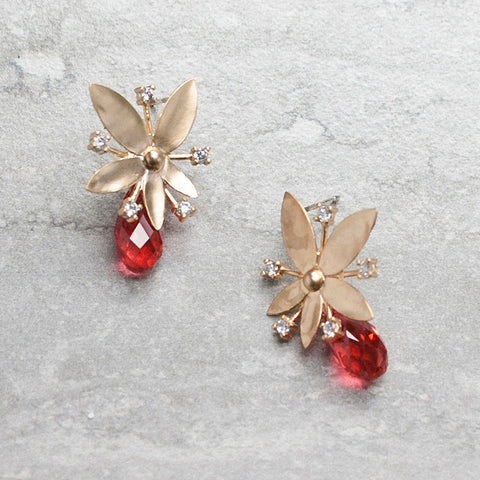 FLORE {corail} - Boucles d'oreilles|FLORE {coral} - Earrings