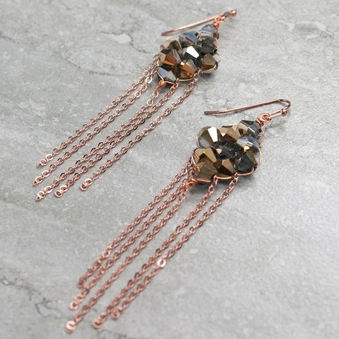 HARLOW {Or Rose} - Boucles d'oreilles|HARLOW {Rose Gold} - Earrings