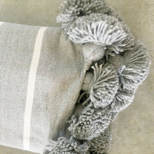 IRIS throw wide GRAY/WHITE/GRAY
