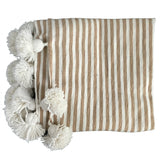 ASSIA throw - beige/white/white