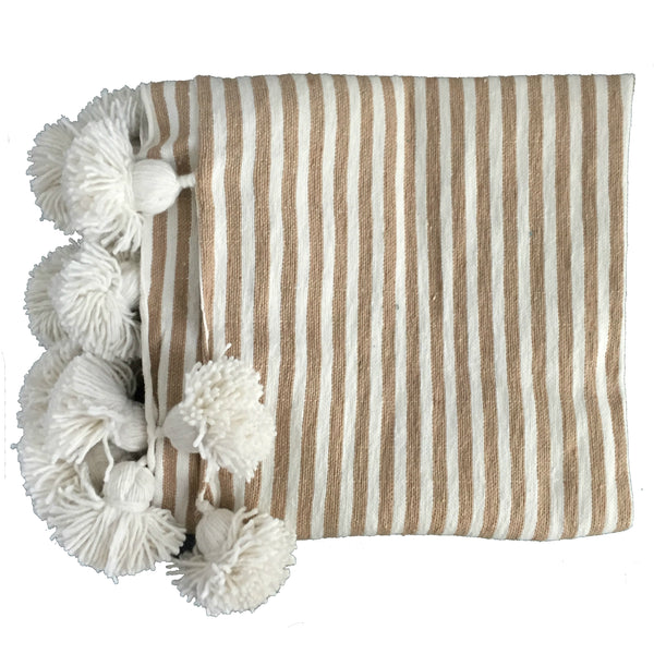 IRIS throw BEIGE/WHITE/WHITE