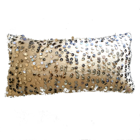 HANDIRA Moroccan wedding blanket pillow cover-full sequin-atelierBOEMIA