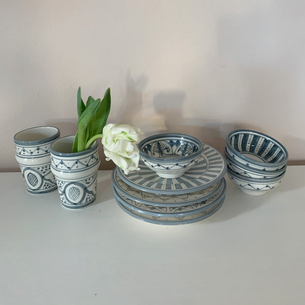 SAFI TAPAS bowl set of 4 GRAY