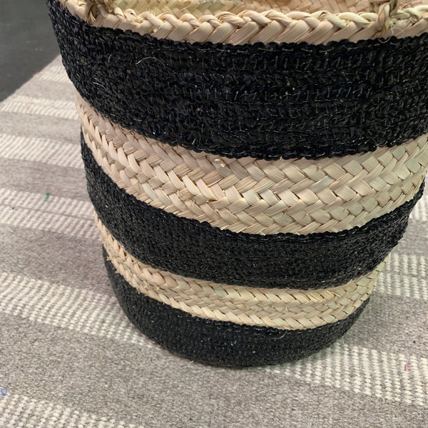 STRIPED Moroccan sequin basket