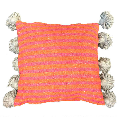 LINA pillow cover BLUSH/CORAL/GRAY