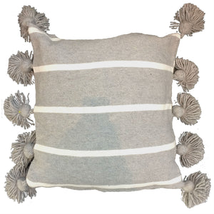 LINA pillow cover-wide gray/white/gray-atelierBOEMIA
