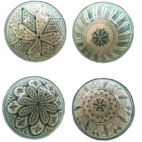 TAPAS bowl - set of 4 celadon green