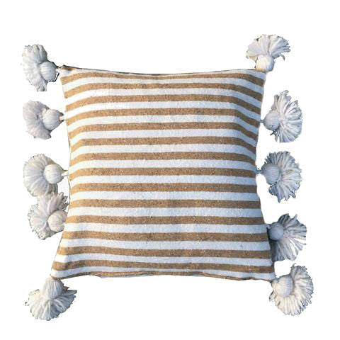 LINA pillow cover WHITE/BEIGE/WHITE