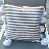 LINA pillow cover - white/beige/white