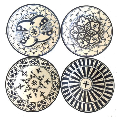 SAFI appetizer plate - set of 4 navy