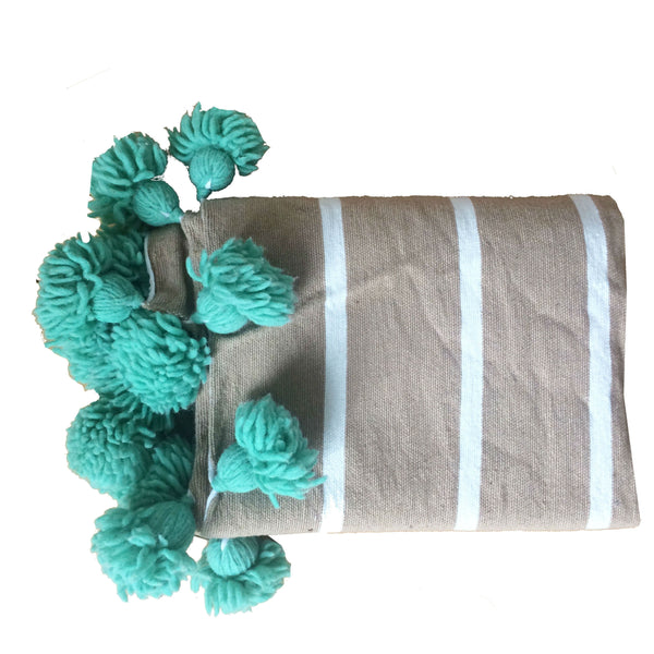 IRIS throw BEIGE/WHITE/MINT