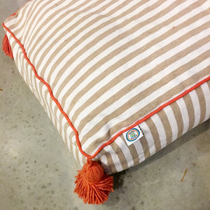 MARTHA PET BED large BEIGE/WHITE/ORANGE