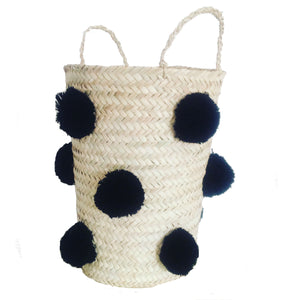 OTHELLO pompom basket BLACK