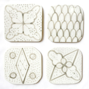 COASTERS set of 4 GRAY