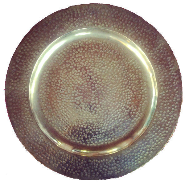 CHARLY hammered tray BRASS