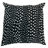 MUDCLOTH pillow cover - black/white dots