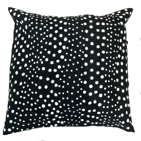 DOTS mudcloth pillow cover - black/white