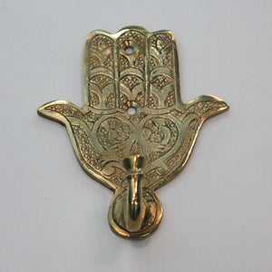 HAMSA hook large BRASS