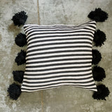 LINA pillow cover - black/white/black
