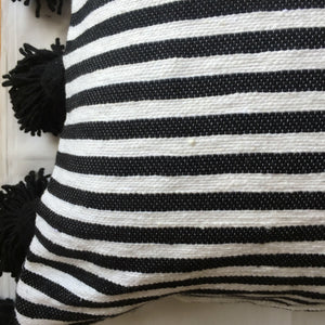 LINA pillow cover BLACK/WHITE/BLACK
