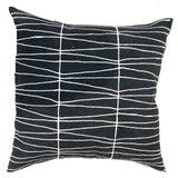 MUDCLOTH pillow cover BLACK LINES