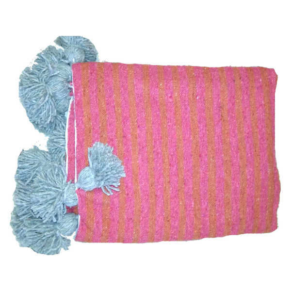 IRIS throw BLUSH/CORAL/GRAY
