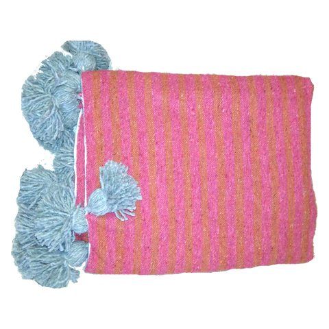 ASSIA throw - blush/coral/gray