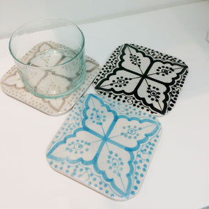 COASTERS set of 4 TURQUOISE