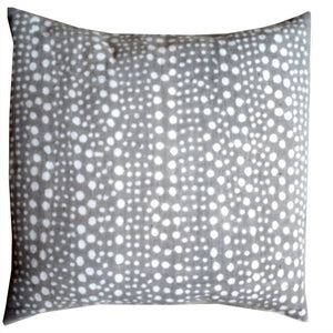 DOTS MUDCLOTH pillow cover large GRAY