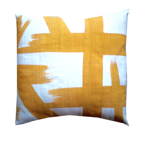 MUDCLOTH pillow cover - yellow Wearstler