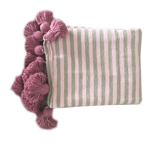 ASSIA throw - blush/taupe/pink