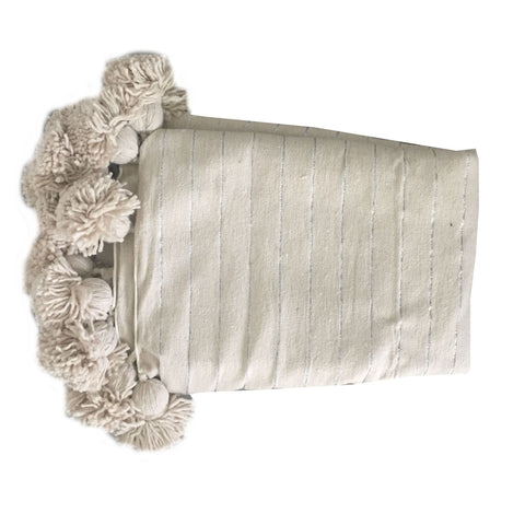 ASSIA throw - cream/silver