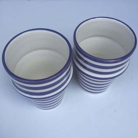 BULLSEYE Bell & Dee cups - set of 2 royal blue