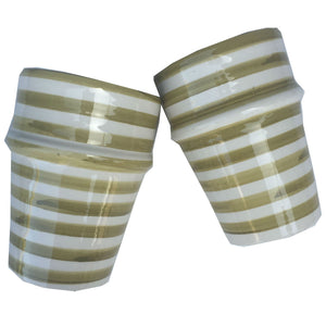 BULLSEYE BELL & DEE cups set of 2 OLIVE