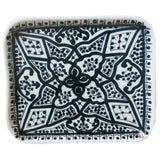 SAFI porcelain appetizer tray - black
