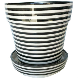BULLSEYE planter medium BLACK