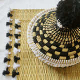 LOLA placemat with tassel - set of 2 black/white
