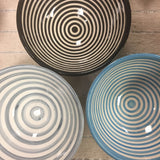 BULLSEYE salad bowl - set of 4 turquoise