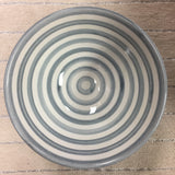 BULLSEYE salad bowls - set of 4 gray