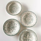 SAFI appetizer plate - set of 4 celadon green