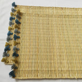 LOLA placemat with tassel - set of 2 CERULEAN HAZE