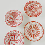 SAFI appetizer plate - set of 4 coral