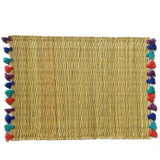LOLA placemat with tassel - set of 2 JEWEL TONES