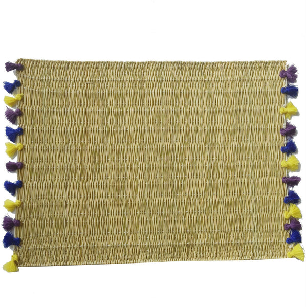 LOLA placemat with tassels KOH SAMUI