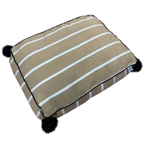 large PET BED-wide beige/white/black-atelierBOEMIA