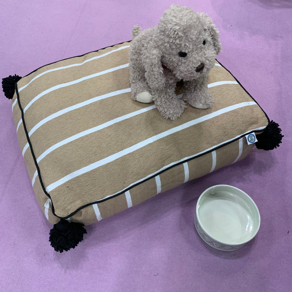 MARTHA PET BED large BEIGE/WHITE/BLACK