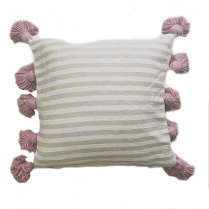 LINA pillow cover BLUSH/TAUPE/BERRY