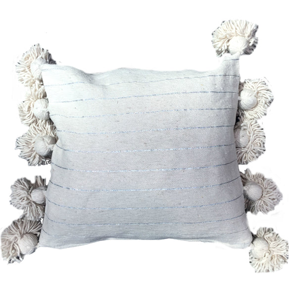LINA pillow cover CREAM/SILVER/CREAM