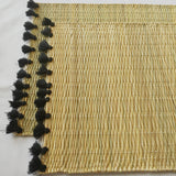 LOLA placemat with tassel - set of 2 BLACK
