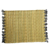 LOLA placemat with tassel - set of 2 GREY